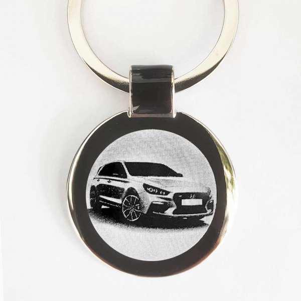 Hyundai i30 N Schlüsselanhänger personalisiert - original Fotogravur