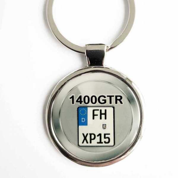 Kawasaki 1400GTR Kennzeichen Schlüsselanhänger personalisiert & Gravur