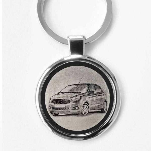 Ford KA Plus Gravur Schlüsselanhänger - original Fotogravur