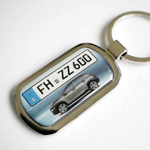 Kennzeichen Schlüsselanhänger personalisiert Hyundai KONA mit persönlicher Gravur