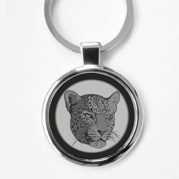Jaguar Wildtier Gravur Schlüsselanhänger personalisiert