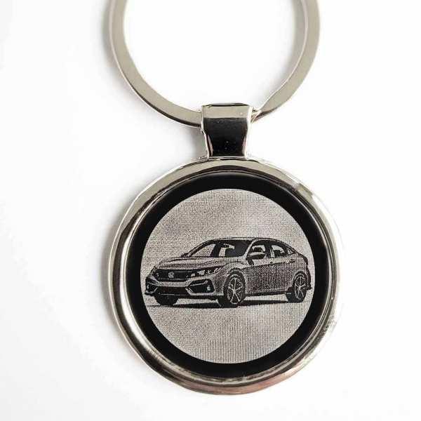 Honda Civic ab 2020 Gravur Schlüsselanhänger personalisiert - original Fotogravur