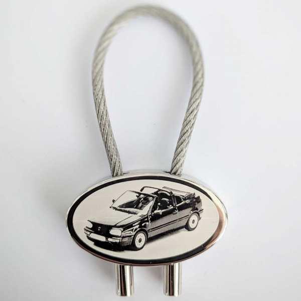 Golf 3 Cabrio Schlüsselanhänger - original Fotogravur