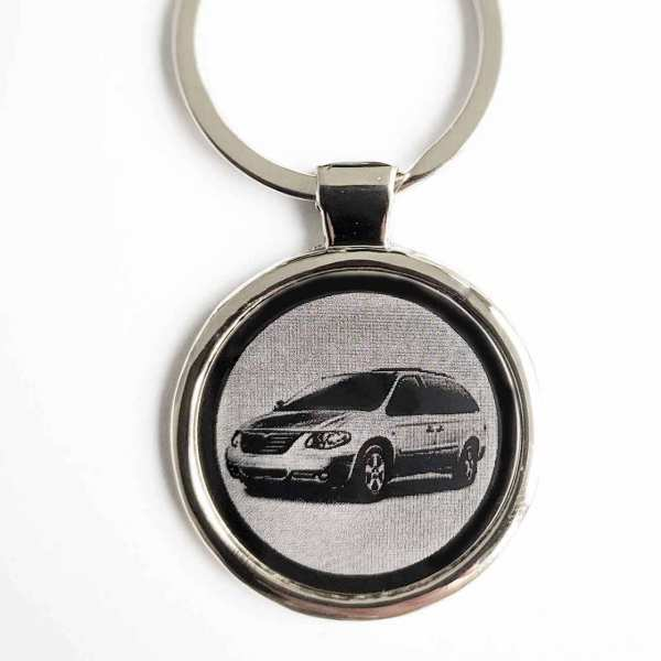 Chrysler Grand Voyager Gavur Schlüsselanhänger personalisiert - original Fotogravur