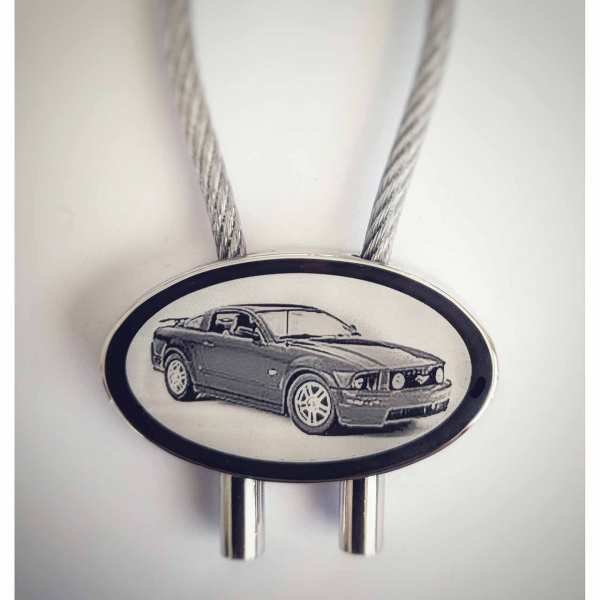 Ford Mustang GT Schlüsselanhäger - original Fotogravur