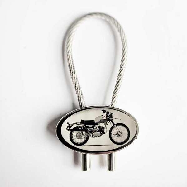 Zündapp GS125 Motorrad Gravur Schlüsselanhänger personalisiert - original Fotogravur