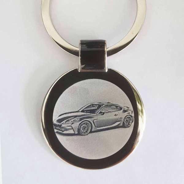 Toyota GR86 Gravur Schlüsselanhänger personalisiert - original Fotogravur