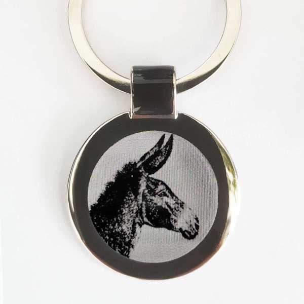 Esel Maultier Gravur Schlüsselanhänger personalisiert - original Fotogravur