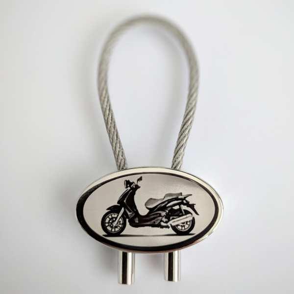 Piaggio Beverly 500 Roller Schlüsselanhänger personalisiert - original Fotogravur