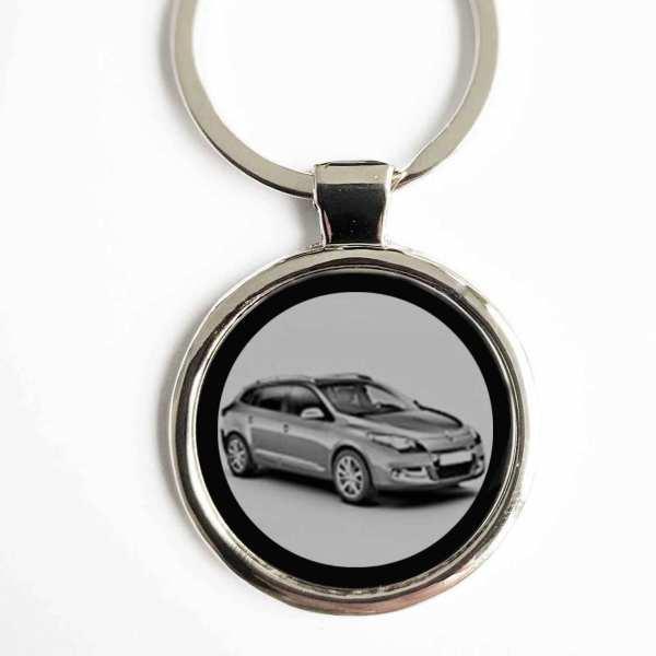 Renault Megane 2013 Schlüsselanhänger personalisiert mit Gravur