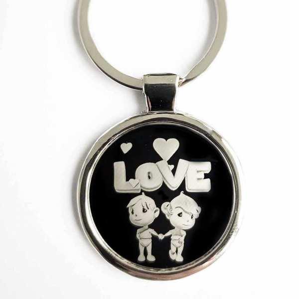 LOVE Geschenk für Verliebte Gravur Schlüsselanhänger - original Fotogravur
