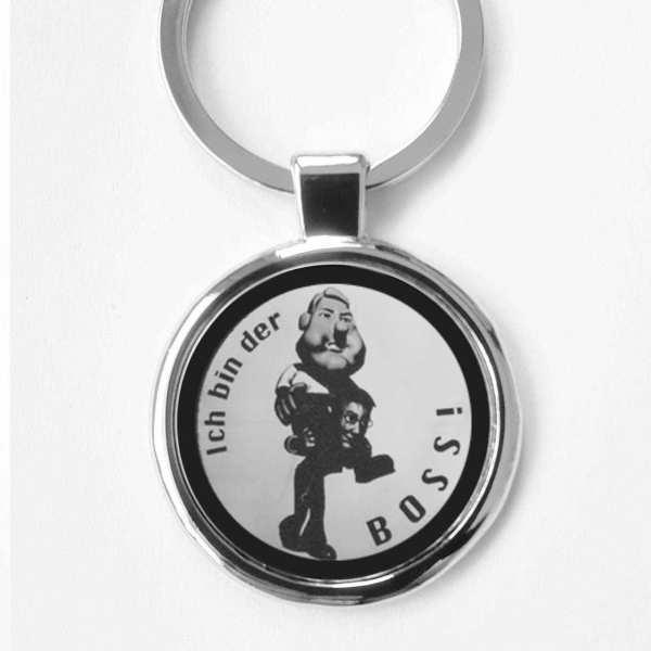 Ich bin der Boss Gravur Schlüsselanhänger personalisiert