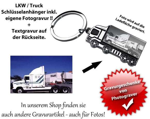 Fotogravur LKW Schlüsselanhänger