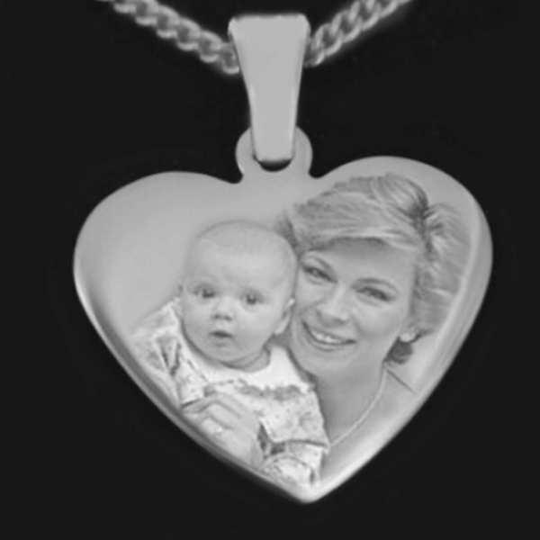 Fotogravur Herz zum Muttertag
