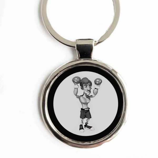 Boxer Gravur Schlüsselanhänger personalisiert personalisiert mit Text