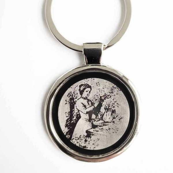 Floristin Schlüsselanhänger personalisiert mit Gravur