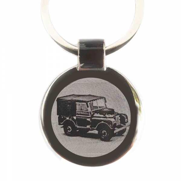Land Rover Series 1 Gravur Schlüsselanhänger personalisiert - original Fotogravur
