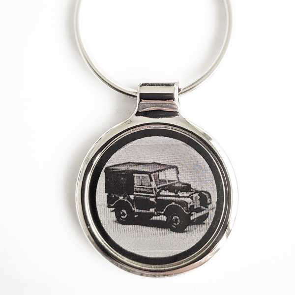 Land Rover Series 1 Gravur Schlüsselanhänger - original Fotogravur
