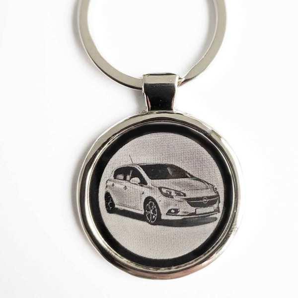 Opel Corsa ab 2018 Gravur Schlüsselanhänger personalisiert - original Fotogravur