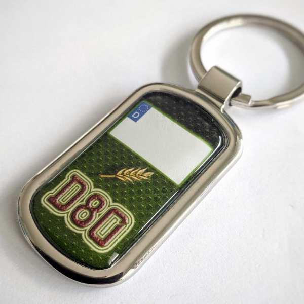 Deutz Kennzeichen D80 Schlüsselanhänger personalisiert & Gravur Rückseite