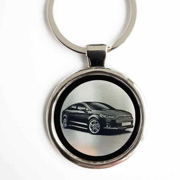 Ford Mondeo Gravur Schlüsselanhänger personalisiert - original Fotogravur personalisiert