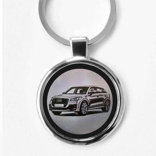 Audi SQ2 Gravur Schlüsselanhänger personalisiert - original Fotogravur