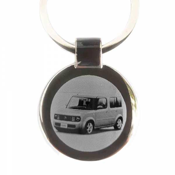 Nissan Cube Gravur Schlüsselanhänger personalisiert - original Fotogravur