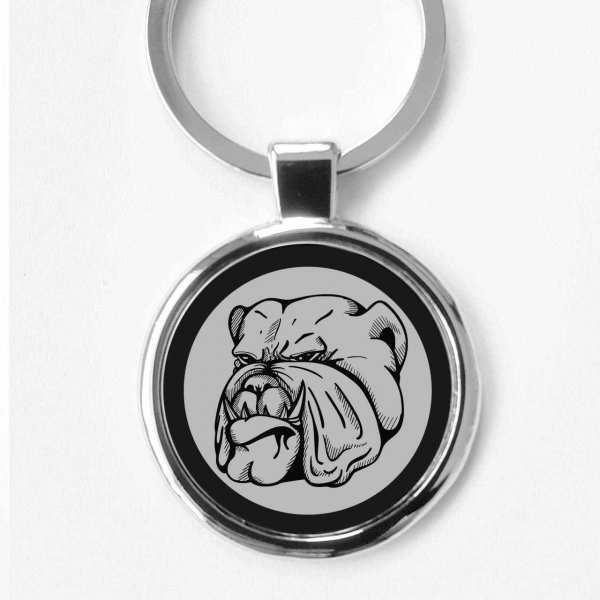 Hund Bulldogge Schlüsselanhänger mit Gravur