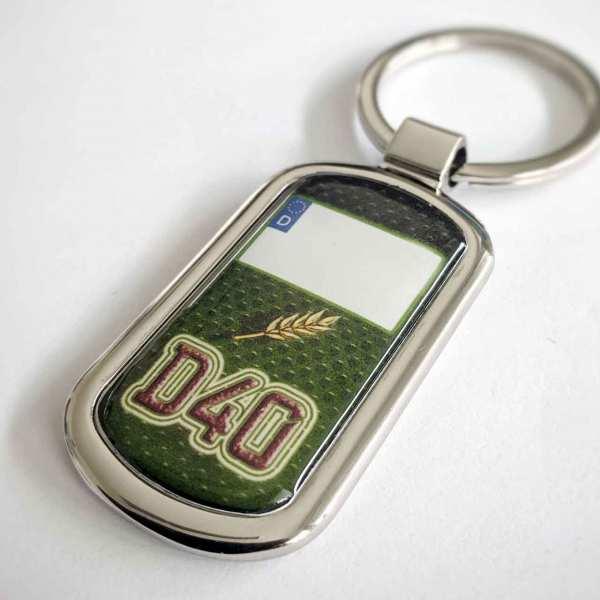 Deutz Kennzeichen D40 Schlüsselanhänger personalisiert & Gravur Rückseite