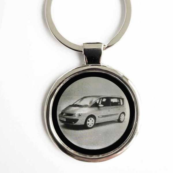 Renault Espace Gravur Schlüsselanhänger personalisiert - original Fotogravur