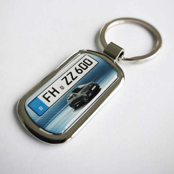 Hyundai i10 mit Kennzeichen Schlüsselanhänger personalisiert Fotodruck & Gravur