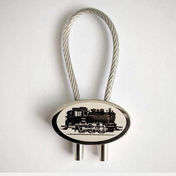 Dampflok BR80 Gravur Schlüsselanhänger - original Fotogravur