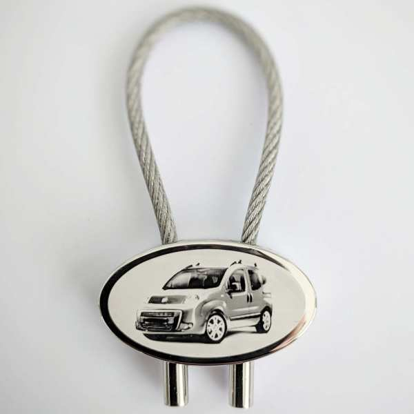 Fiat Fiorino Schlüsselanhänger personalisiert - original Fotogravur