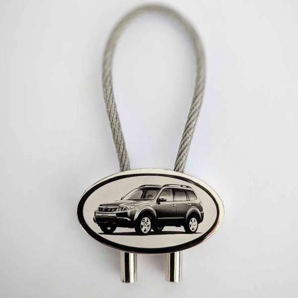 Subaru Forester Schlüsselanhänger - original Fotogravur