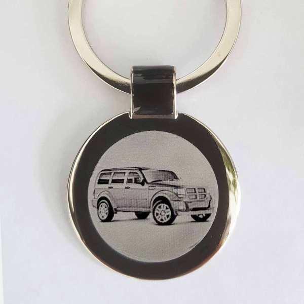 Dodge Nitro Gravur Schlüsselanhänger personalisiert - original Fotogravur