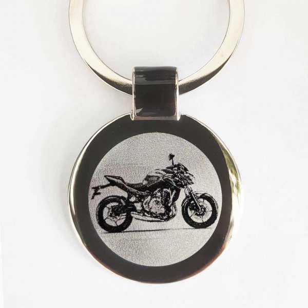 Kawasaki Z650 Modell 2017 Motorrad Schlüsselanhänger personalisiert - original Fotogravur