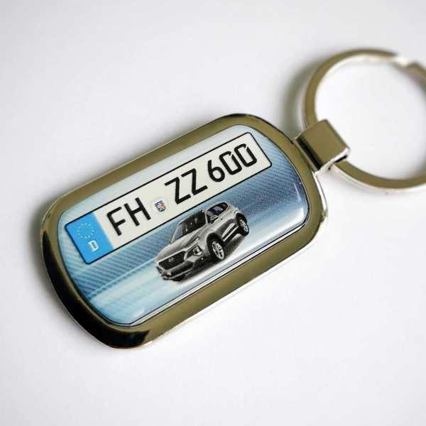Hyundai Santa Fee Kennzeichen Schlüsselanhänger personalisiert mit persönlicher Gravur