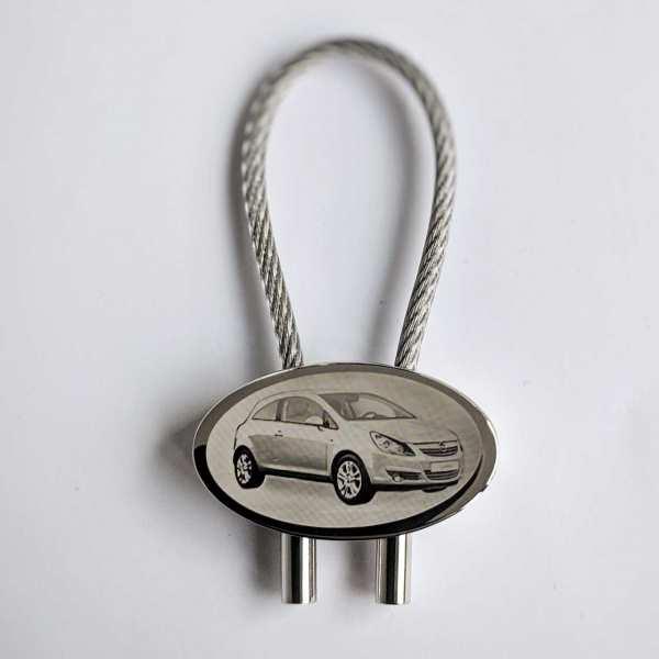 Opel Corsa D Gravur Schlüsselanhänger - original Fotogravur