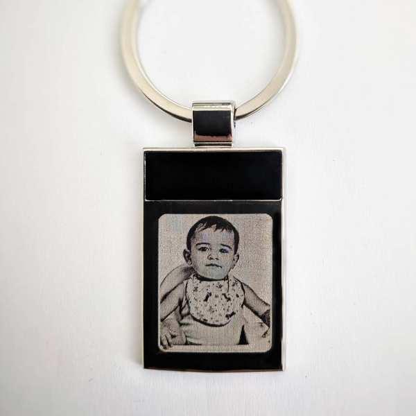 Schlüsselanhänger personalisiert Geschenkidee mit Text aus der Blacky Serie