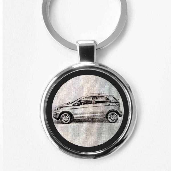 Ford Ka Plus Modell 2018 Gravur Schlüsselanhänger personalisiert - original Fotogravur