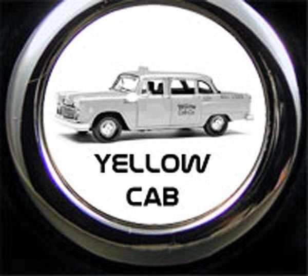 Yellow Cab Gravur Schlüsselanhänger
