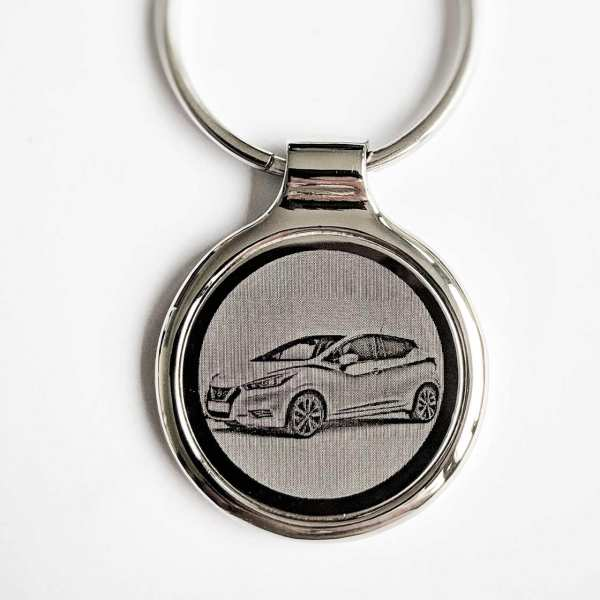 Nissan Micra Modell 2017 Gravur Schlüsselanhänger - original Fotogravur