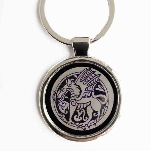 Totemtier Drache Gravur Schlüsselanhänger personalisiert