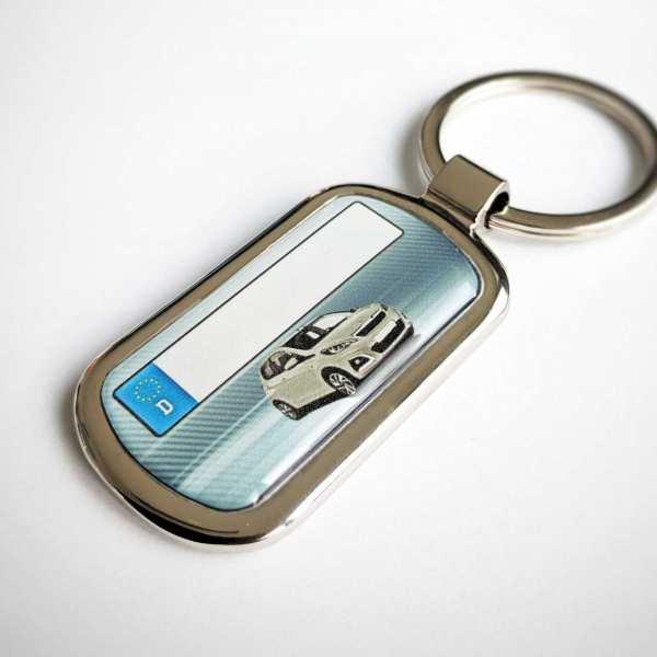Peugeot 108 Schlüsselanhänger & Kennzeichen & Gravur auf der Rückseite