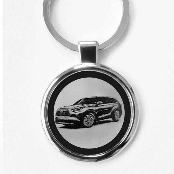 Toyota Highlander Gravur Schlüsselanhänger personalisiert - original Fotogravur