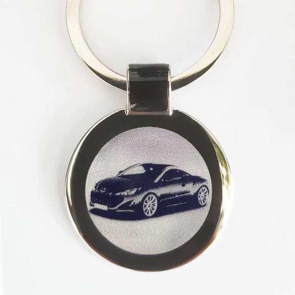 Peugeot RCZ Schlüsselanhänger personalisiert - original Fotogravur