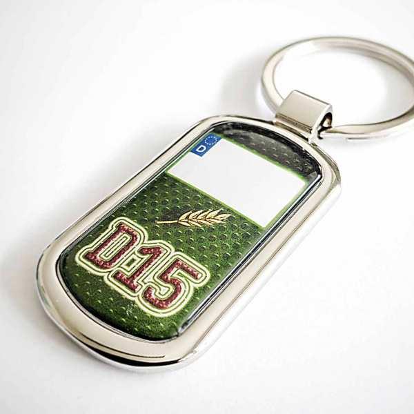 Deutz Kennzeichen D15 Schlüsselanhänger & Rückseiten Gravur