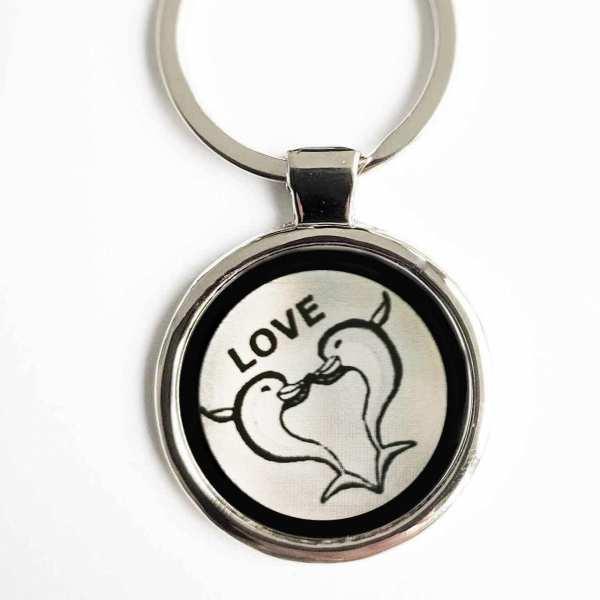 Delphin Dolphin Love Gravur Schlüsselanhänger personalisiert