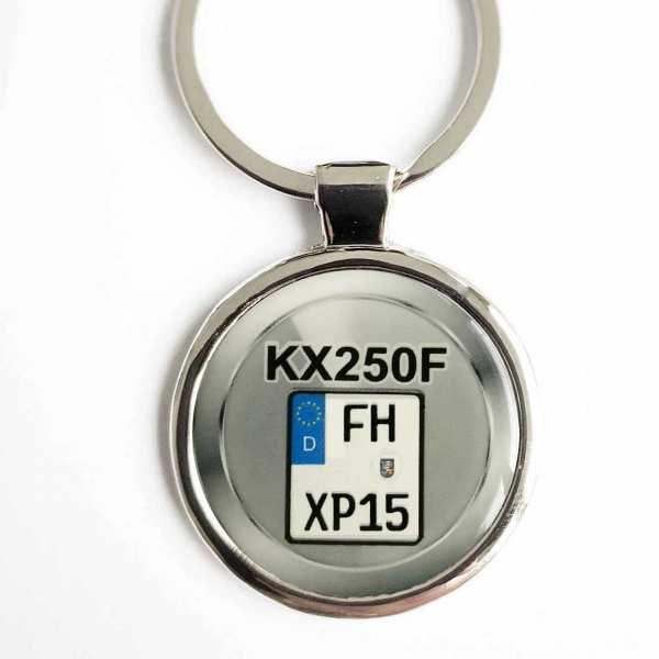 Kawasaki KX250F Kennzeichen Schlüsselanhänger personalisiert & Gravur