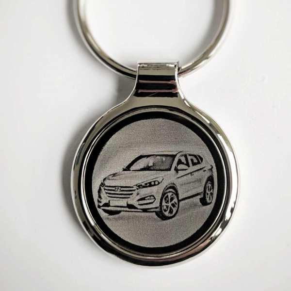 Hyundai IX25 Gravur Schlüsselanhänger personalisiert - original Fotogravur